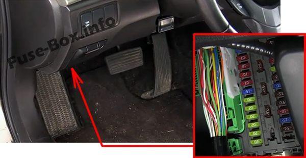 Acura TSX (CU2; 2009, 2010, 2011, 2012, 2013, 2014) Fuse box location | Acura  tsx, Fuse box, AcuraPinterest