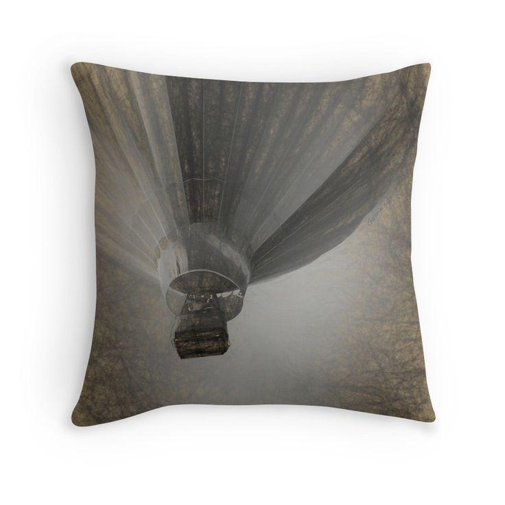 Hot Air Balloon Da Vinci style Throw Pillows by Galerie 503