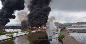 Pide Defensoría protección urgente para habitantes de Salina Cruz por incendio en refinería