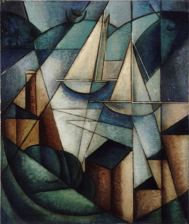 albert gleizes cubism | Sailboats (Scène du port) - 20th Century Painting - Modern ...