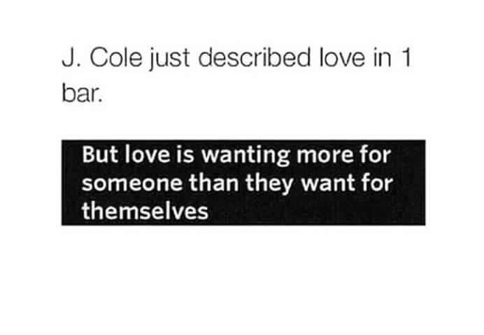 J Cole lyric