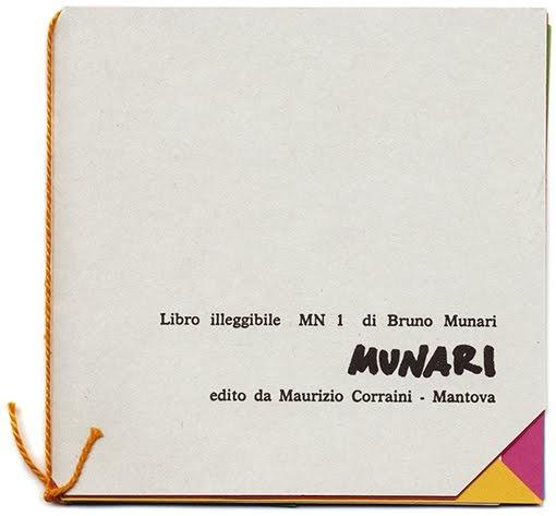 Libro illeggibile MN 1 di Bruno Munari Edito da Maurizio Corraini – Mantova