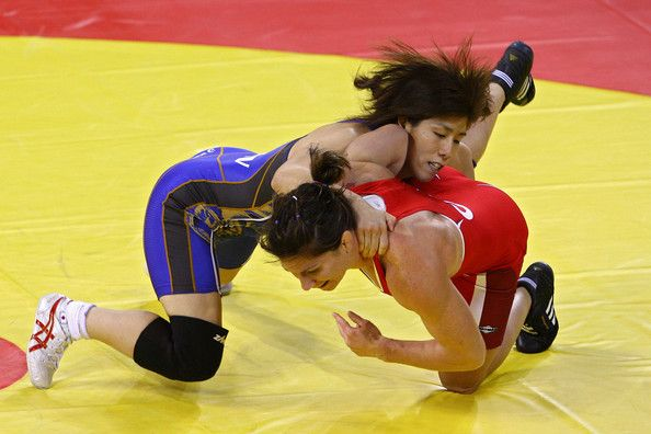 Saori Yoshida (Blue) - Wrestling - Beijing Olympics 2008 & Athens 2004 - Womens 55kg Freestyle
