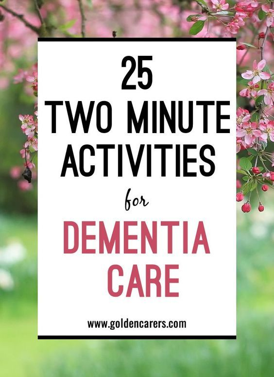 Two Minute Activities for Dementia CareSabrina B.