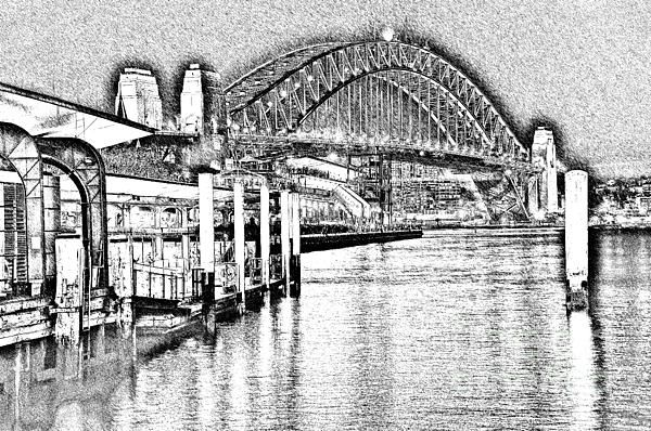 #SYDNEY #HARBOUR #BRIDGE #PENCIL #SKETCH 2 by #Kaye #Menner #Photography Quality Prints Cards Products at: http://kaye-menner.pixels.com/featured/sydney-harbour-bridge-pencil-sketch-2-by-kaye-menner-kaye-menner.html