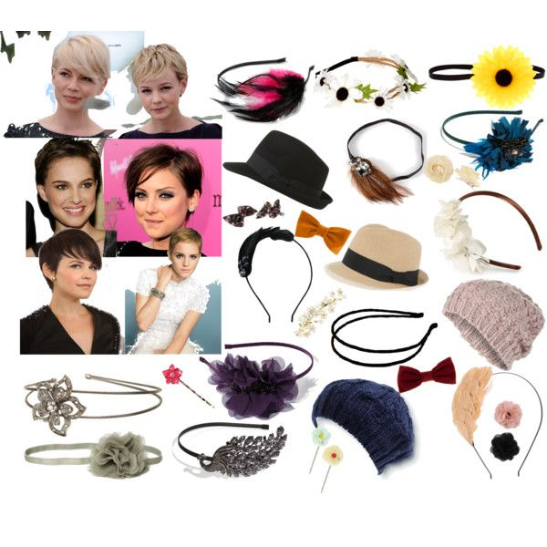 """Pixie Cut Accessories"" by snowsilver on Polyvore"