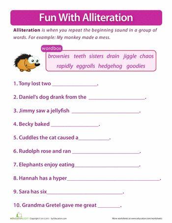 all worksheets alliteration worksheets ks1 printable worksheets guide for children and parents. Black Bedroom Furniture Sets. Home Design Ideas