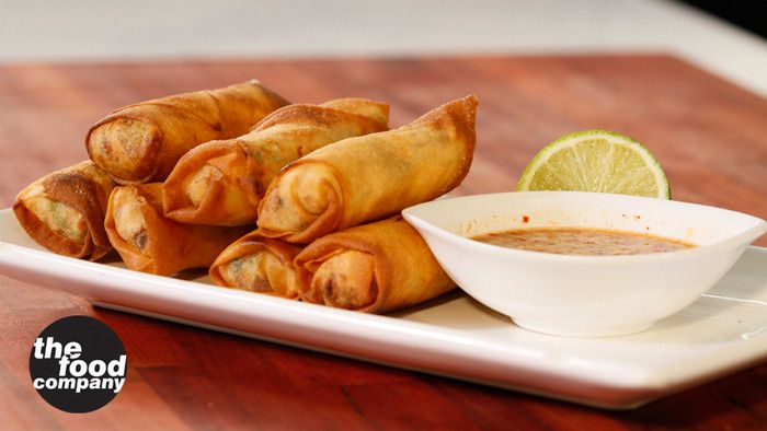 Crispy Prawn Cigars with Coconut Dipping Sauce