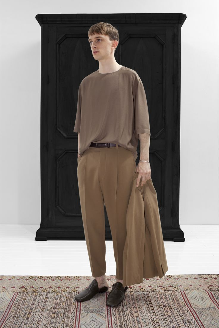 Men SS2013 Collections - Paris Dream  Christophe Lemaire light oversized camel camo beige biscuit cognac burgundy brown nice outfit