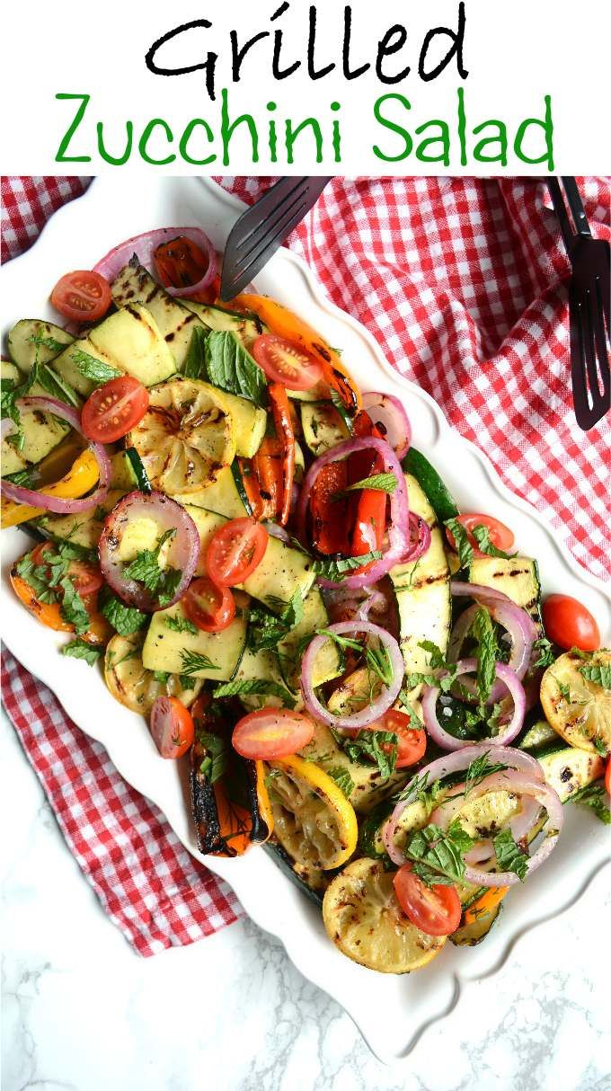 salad grilled zucchini and tomato salad recipe key ingredient grilled ...