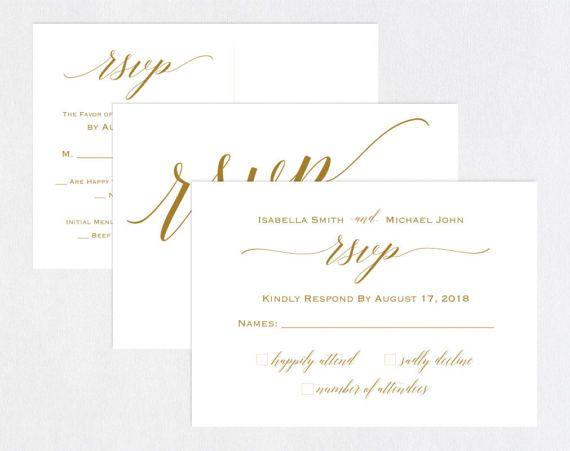 Gold Rsvp Postcards Templates Wedding Rsvp Cards Rsvp Etsy Rsvp Wedding Cards Online Wedding Rsvp Wedding Rsvp Postcard