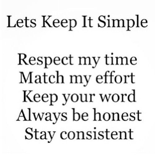 Keep It Simple Quote repinned but I wish it was my own as I believe each and every word! :)