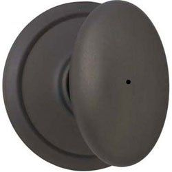 """Siena Bed and Bath Knob Finish: Oil Rubbed Bronze by Schlage Lock Company. Save 39 Off!. $31.12. F40 SIE 613 16-080 10-027 Finish: Oil Rubbed Bronze Features: -Bed and bath knob.-Use on a 1.375"""" to 1.75"""" thick door.-Universal latch and Triple Option faceplate fit standard door preparations.-Privacy knob, with push-button lock, for use on an interior bathroom or bedroom door.-All-metal chassis for durability.-ANSI Grade 2. Includes: -Includes hardware for quick, 1-tool installa..."""