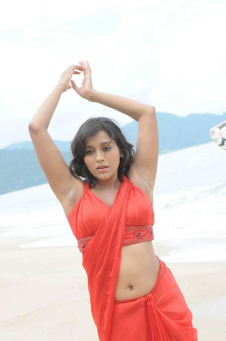 Actress Rashmi Gautam Hot Navel Show In Saree Stills