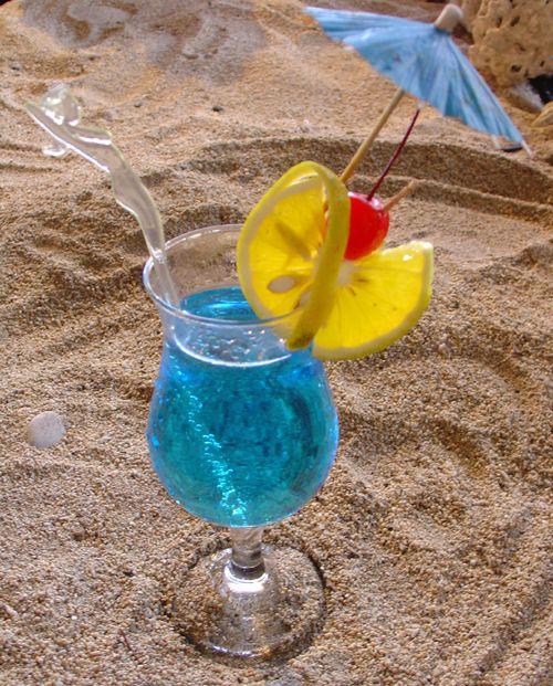 Blue Climax - Smirnoff Vodka, Blue Curacao, Lemon Cordial