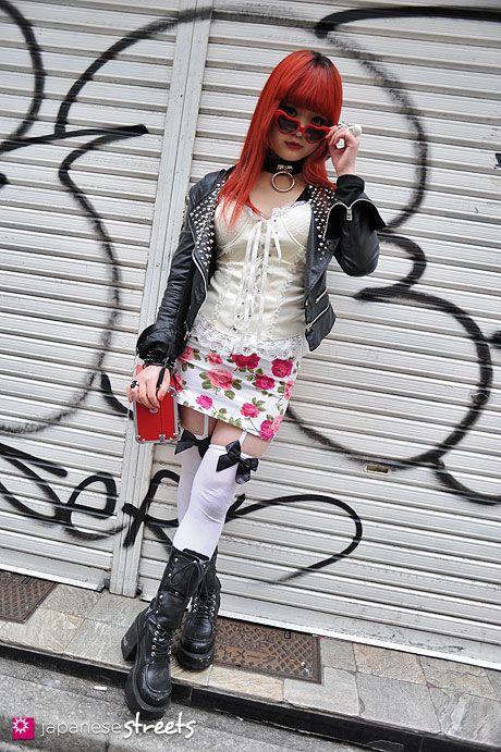 120325-7497: Japanese street fashion in Harajuku, Tokyo (Viva Cute Candy, Killers, Retro Fantasy, Demonian, Vivienne Westwood, Hell Cats Punks)