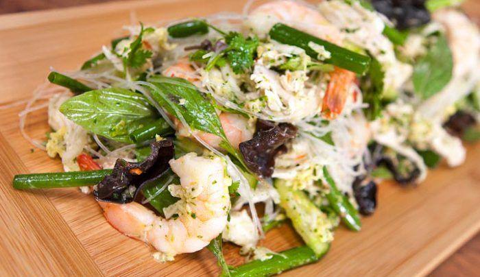 Prawn and Chicken Thai Salad - Good Chef Bad Chef