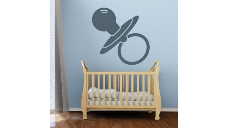 Pacifier Crib Wall Stickers Wall Nursery Baby Girl Baby Boy Children Kids Room Bedroom Sticker Tr1185. Non-stick coating makes clean-up easy. Our decals are fully removable. IF NO COLOR CHOICE SPECIFIED GLOSSY BLACK DECAL WILL BE SEND. Material: vinyl. Ships worldwide from USA.
