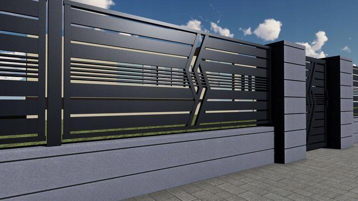 Ogrodzenie Panelowe Plot Brama Palisada Gobe 369 8832799588 Allegro Pl House Gate Design Front Gate Design Door Gate Design