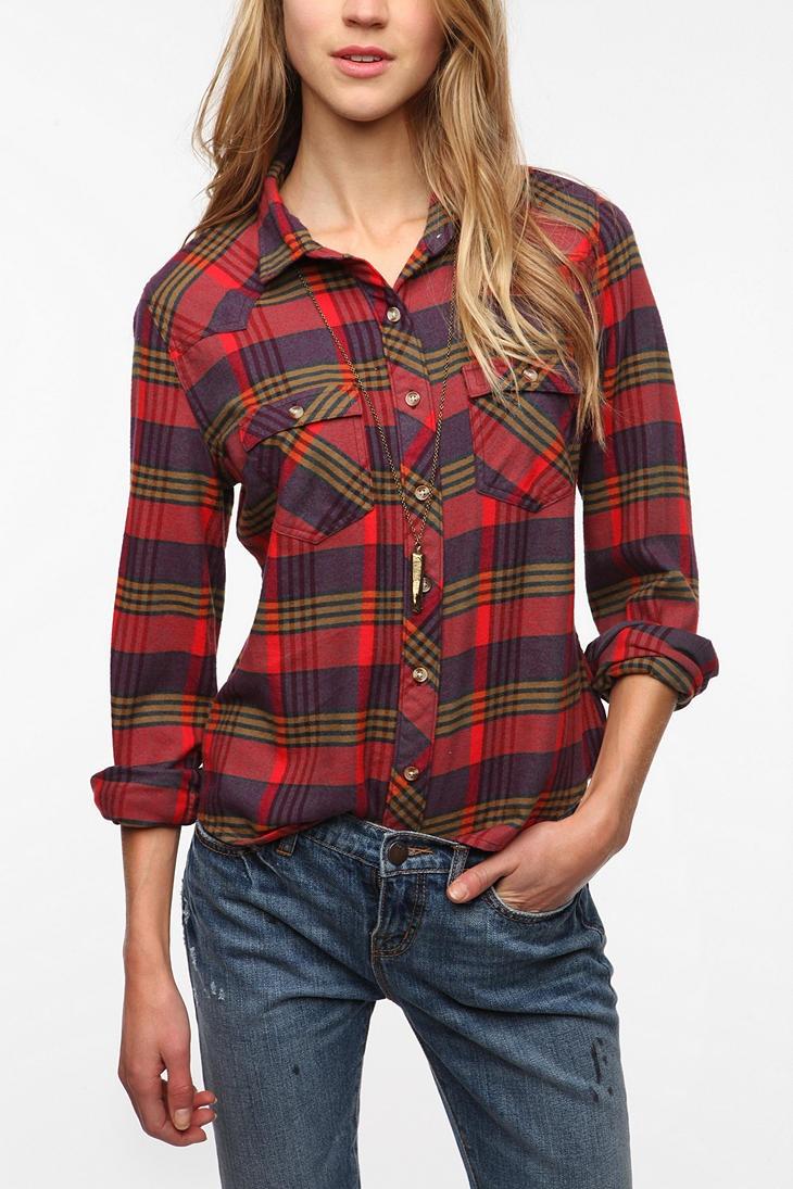 Bdg flannel western shirt 4900 plaid shirt women