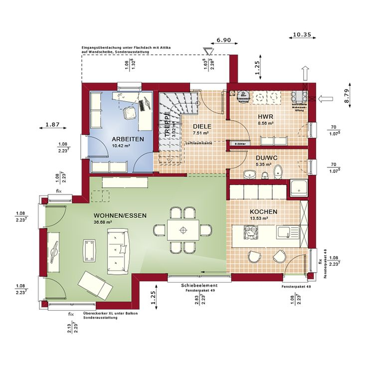 Good Virtuelle Besichtigung Bei dem CONCEPT M Musterhaus in Zweibr cken f gen sich der repr sentative Dach berstand