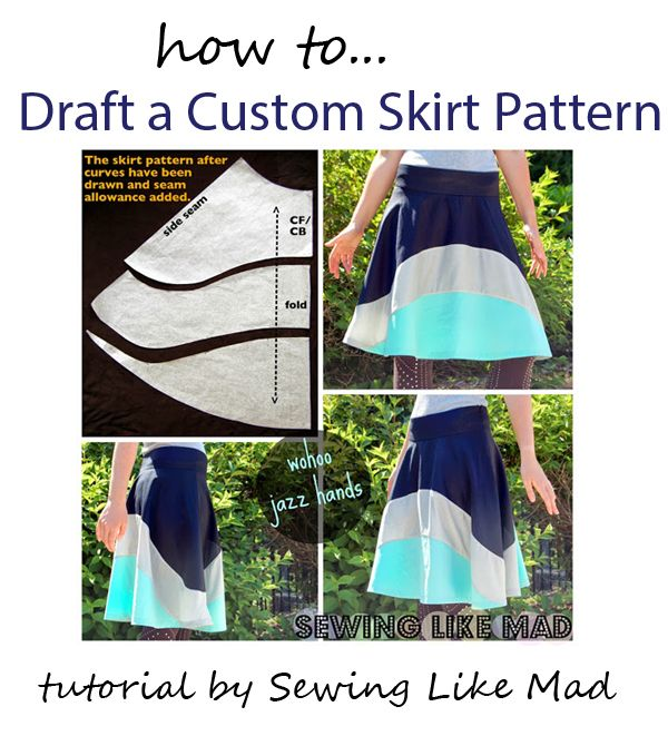 Draft a Custom Fit Skirt Pattern Tutorial- this is gorgeous!! Must try!