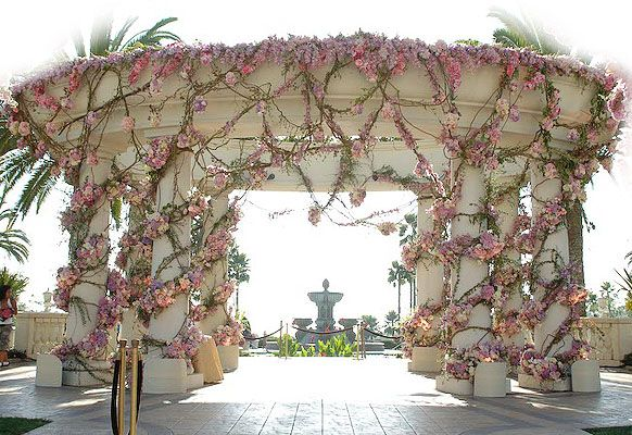 Outdoor Ceremony Floral Gazebo | Inspirations
