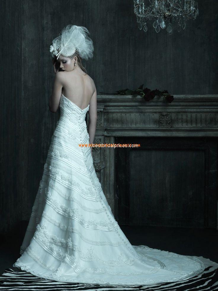 Robe de mariée couture dentelle satin floral