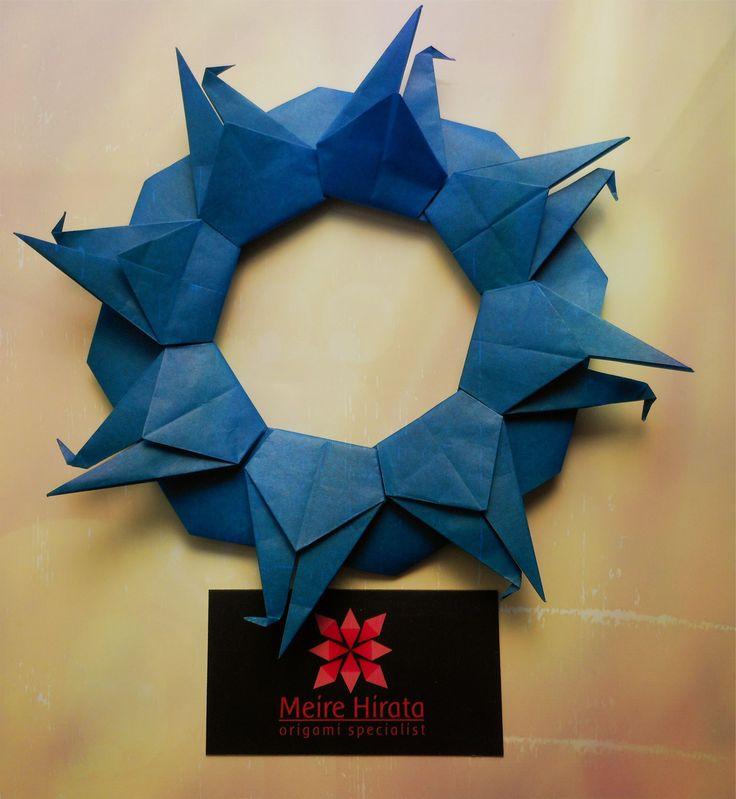 Mandala de Origami de Tsuru! Símbolo da paz, prosperidade e longevidade!  Mandala origami tsuru. Symbol of peace, prosperity and longevity.  http://www.meirehirata.com/: De Origami, Hirata Origami, Origami Tsuru, Origami De, Origami Coronit, Mandala Origami
