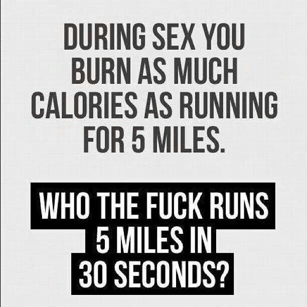 Sex better than running