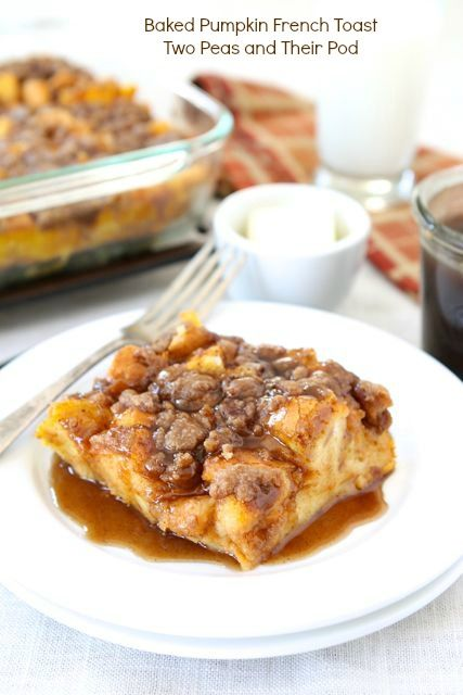 Start Thanksgiving off right with Baked Pumpkin French Toast.
