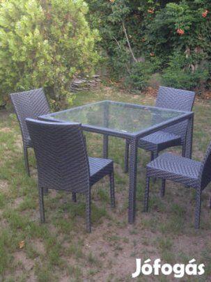 Poli rattan kerti garnitúra eladó: Eladó több használt  poli rattan kerti garnitúra! Teljesen megkímélt, szinte újszerű állapotban! Az asztal mérete 1m*1m! Egy garnitúra ára 30000Ft, amely 1db asztal és 4 db szék.
