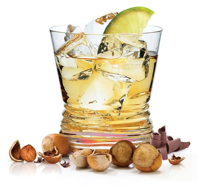 Frangelico® On The Rocks 2 Parts Frangelico®. Juice Of