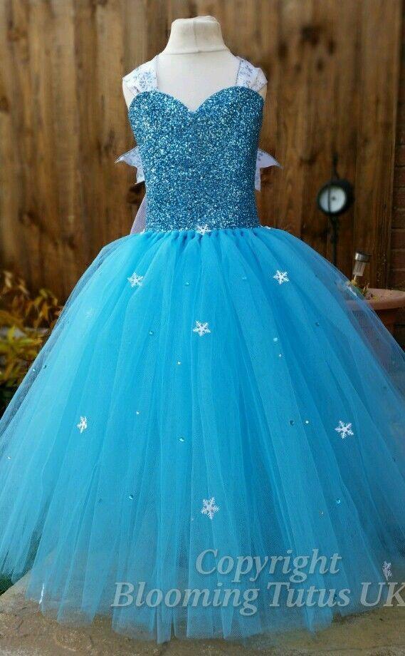 Handmade Sparkly Frozen Elsa Inspired Tutu Dress-Party Birthday, Photo, Dress Up | eBay
