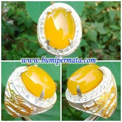 CM170 Batu Yellow Sunkist Chalcedony - Akik Kuning Sunkist