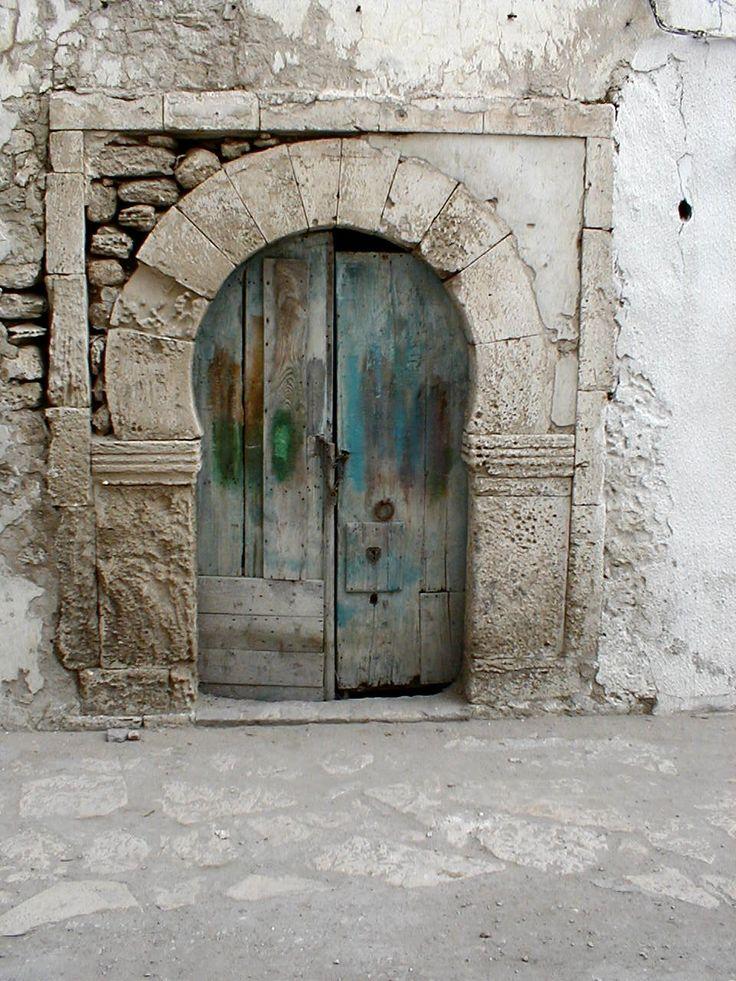 Souk de Sousse ~ Tunisia weathered blue door