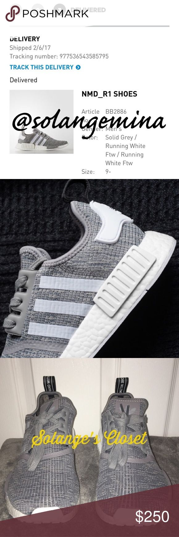 ADIDAS NMD R1 SNEAKERS -THIS IS A SIZE 9.5 MEN BUT WILL FIT SIZES 9.5-10.5(I have listed these sizes to make it easier to find your correct size!)🚨PLEASE KNOW YOUR NMD SIZE BEFORE ORDERING! NMD SIZING VARIES FROM YOUR REGULAR ADIDAS SIZING!🚨  -100% AUTHENTIC & COMES WITH BOX & RECEIPT FROM ADIDAS.COM!  -NO FLAWS! -Price is just about firm on this item due to rarity of colorway and size.   WILL LIST ON VINTED LOWER💕  🚫NO TRADES/HOLDS🚫 adidas Shoes Sneakers