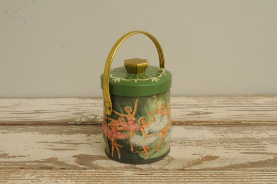 Vintage Ballerina Tin with Lid England by whitepicket on Etsy