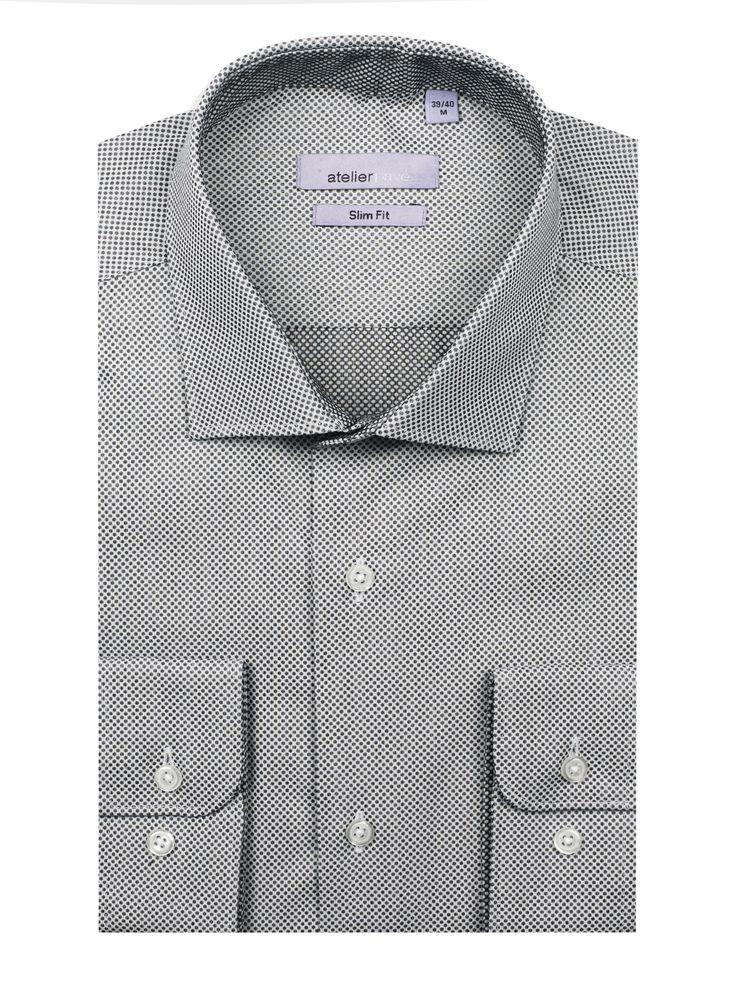 Chemise cintrée HERWIN - 95€ | http://www.atelierprive.com/fr/nouveautes-mode-homme/3899-chemise-cintree-hector-gris.html