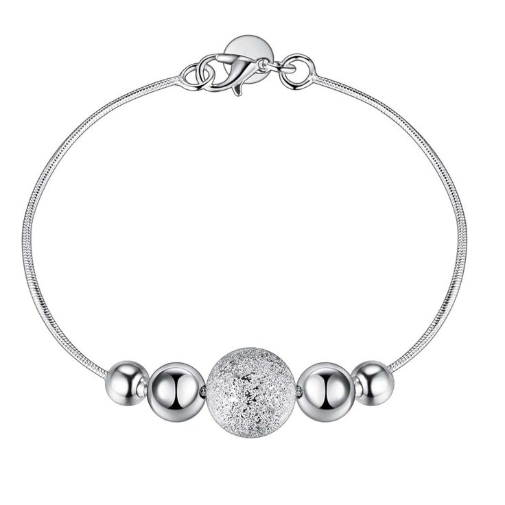 Aliexpress.com : Buy String different size beads fashion Wholesale silver plating bracelet, Silver plated fashion jewelry /HZNRUPGY GYRXWZCR from Reliable jewelry qvc suppliers on yinfen guo's store