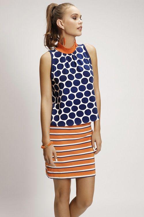 4150PRT Coco Top 5082LST Pencil Skirt