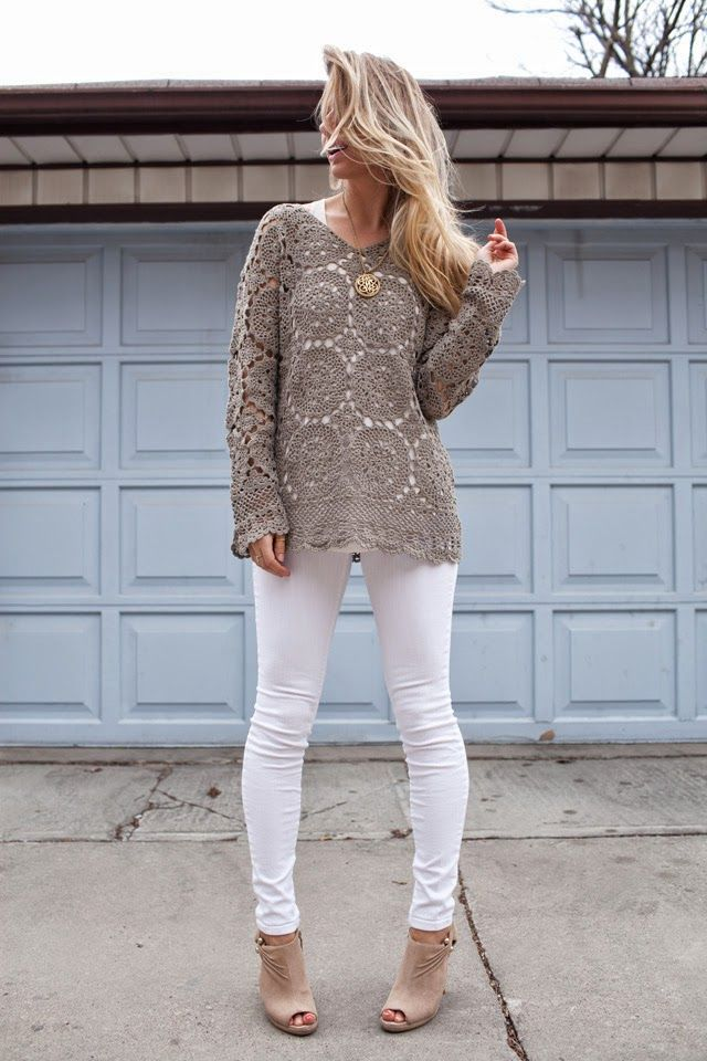 Crochet Oversized Summer Sweater | Thrifted by @Marla Brum, Trend ...
