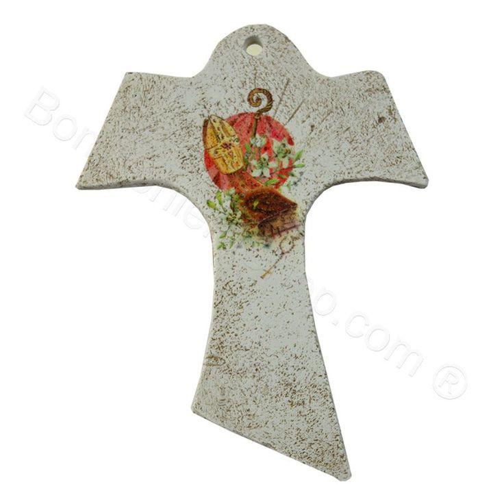 Tau con immagine Mitra Santa Cresima #cresima #santacresima #idearegalo #bomboniera #crocefisso #tau