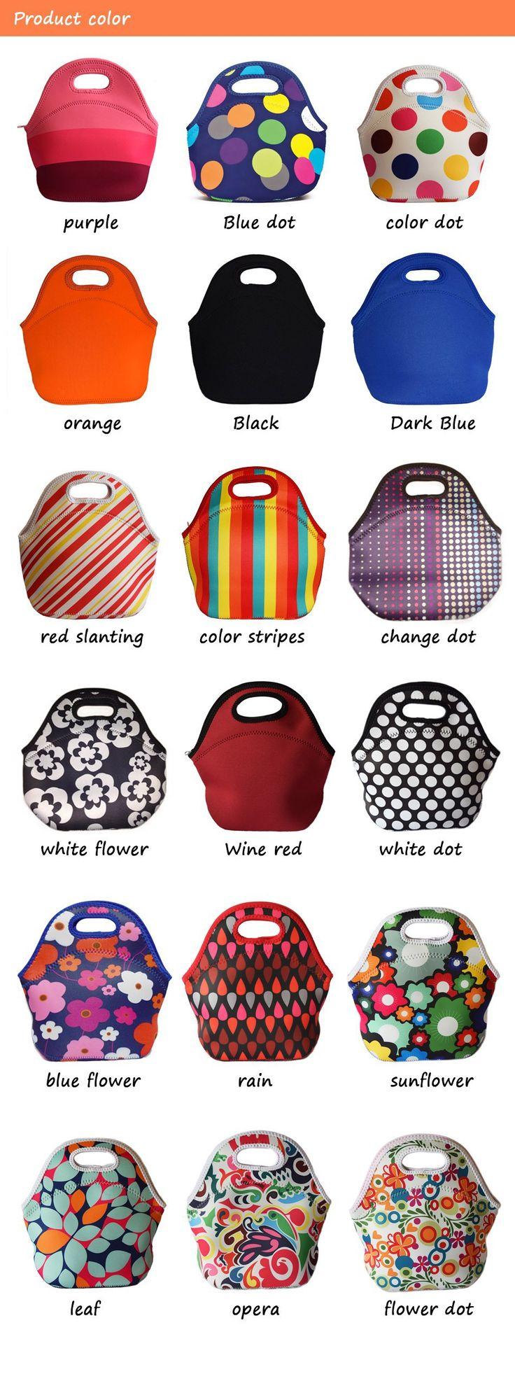 Lancheira thermo sac néoprène déjeuner isothermes pour des femmes enfants fourre   tout avec fermeture éclair cooler bag boîte d'isolation du déjeuner dans Sacs Repas de Valises et sacs sur AliExpress.com | Alibaba Group
