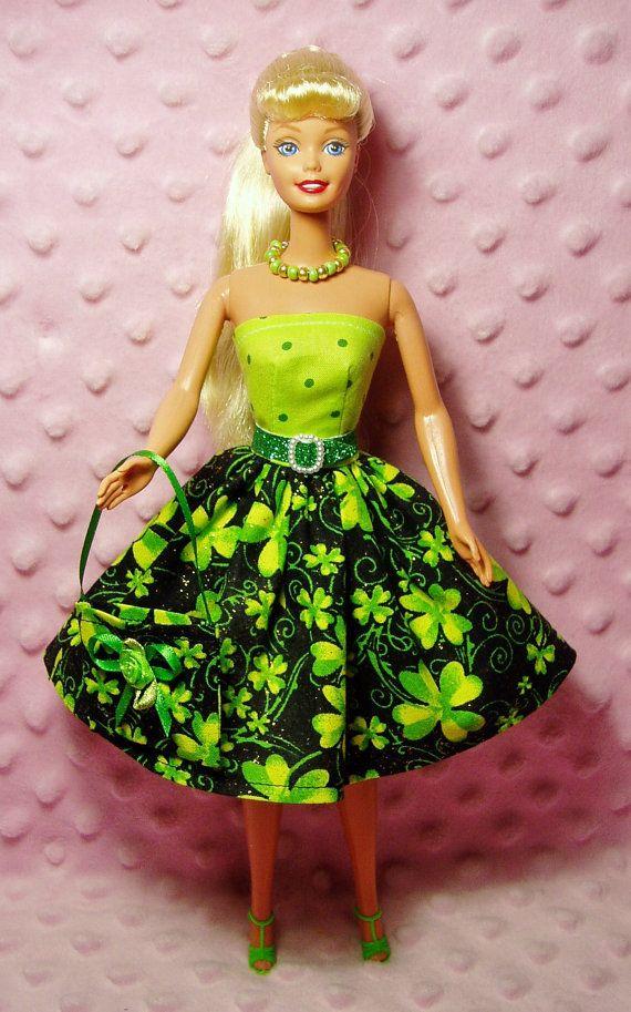 Barbie Clothes  Shamrock Clover Dress