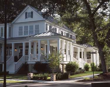 Carolina island house from the southern living hwbdo55439 for Southern home plans with wrap around porches
