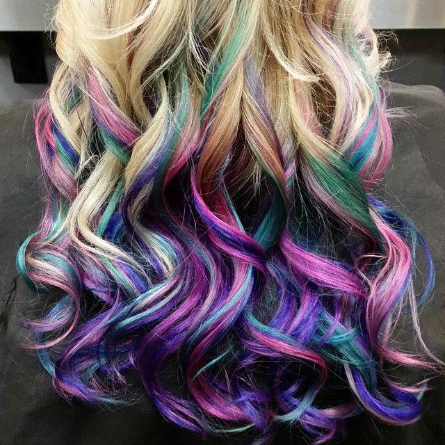 Best 25 Teal Hair Highlights Ideas On Pinterest