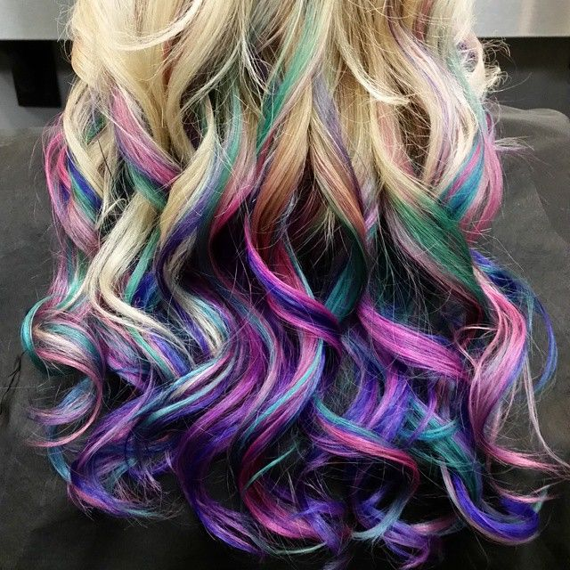 pravana hair color cocktail teal pink purple