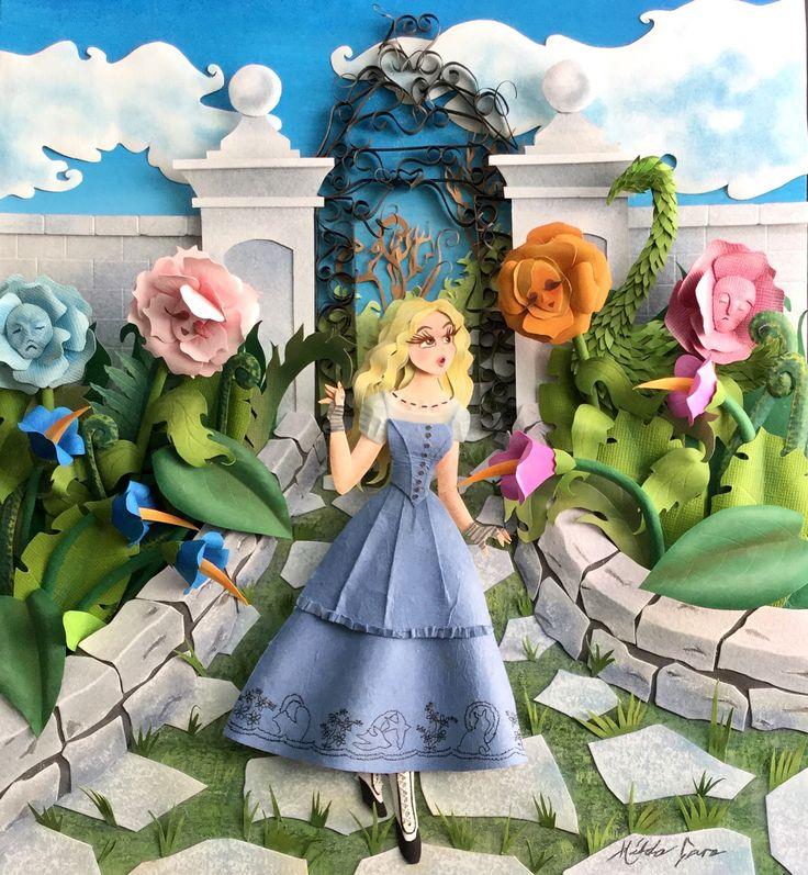 Alice in Wonderland paper sculpture
