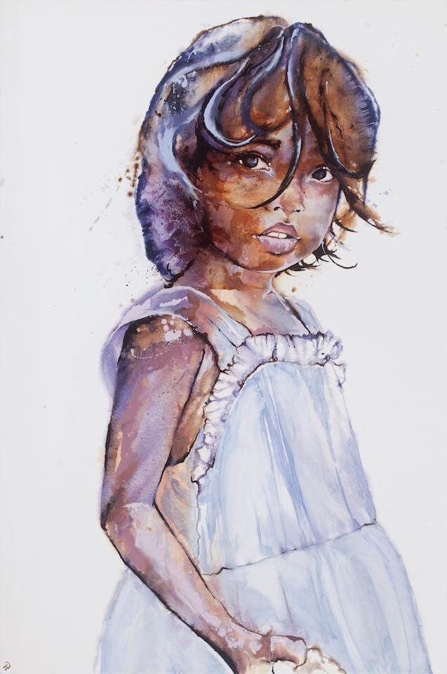 'Jorani' by Johanna Wilbraham. Oil on canvas, 120 x 180 cm.
